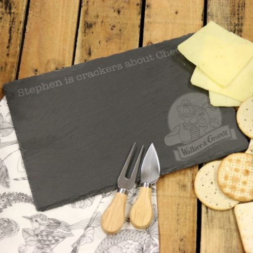 Wallace & Gromit Logo Slate Cheese Board